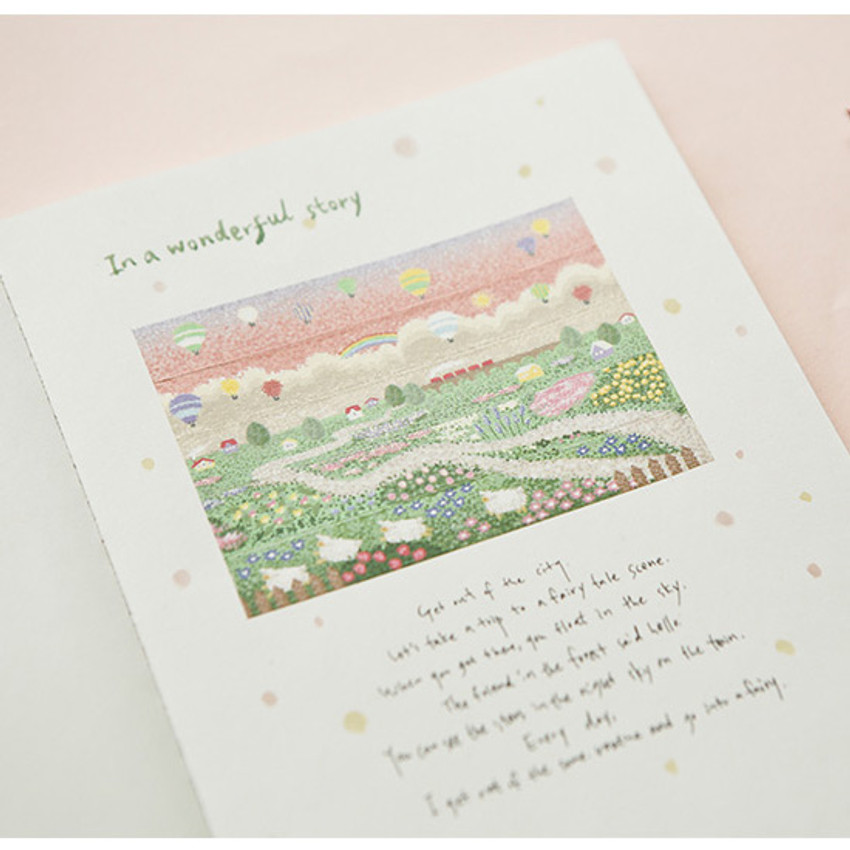 Example of use - Dailylike Village single roll paper deco masking tape