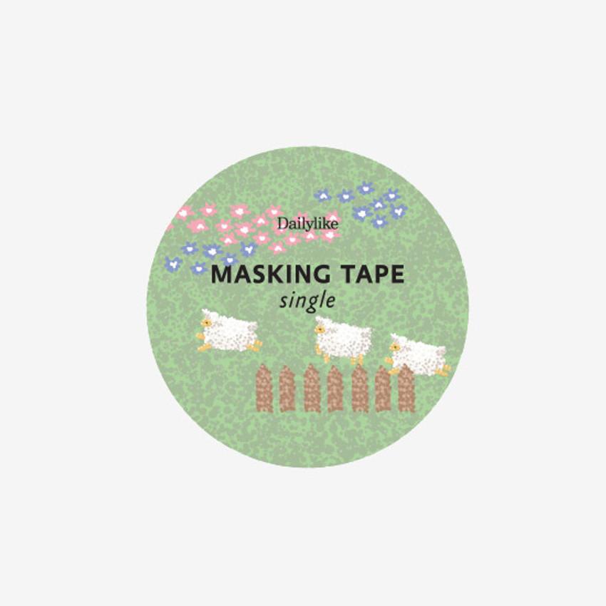 Dailylike Lamb single roll paper deco masking tape