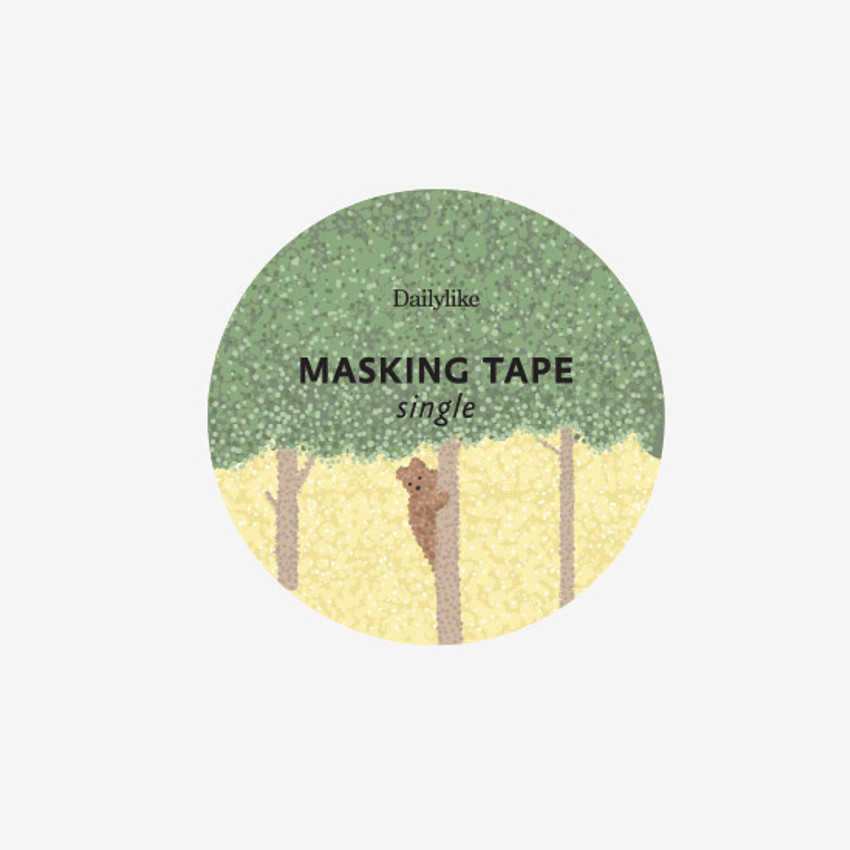Dailylike Forest animal single roll paper deco masking tape