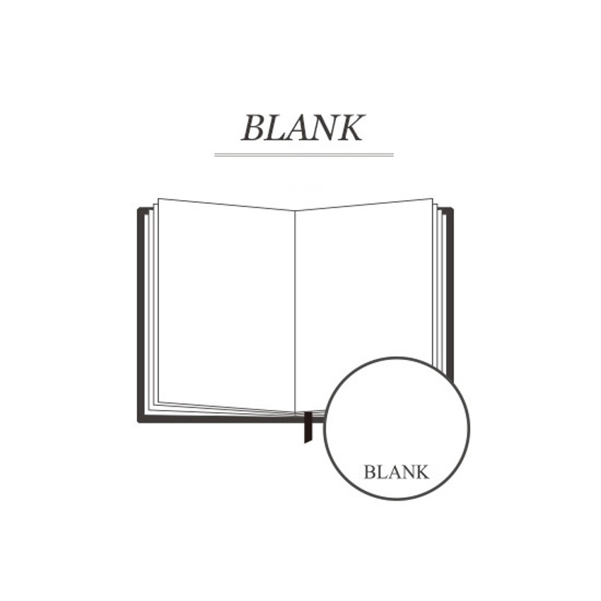 Blank notebook - Indigo Classic story 272 pages hardcover blank notebook