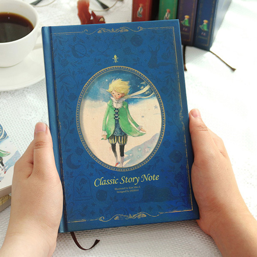 The little prince blue - Indigo Classic story 272 pages hardcover blank notebook