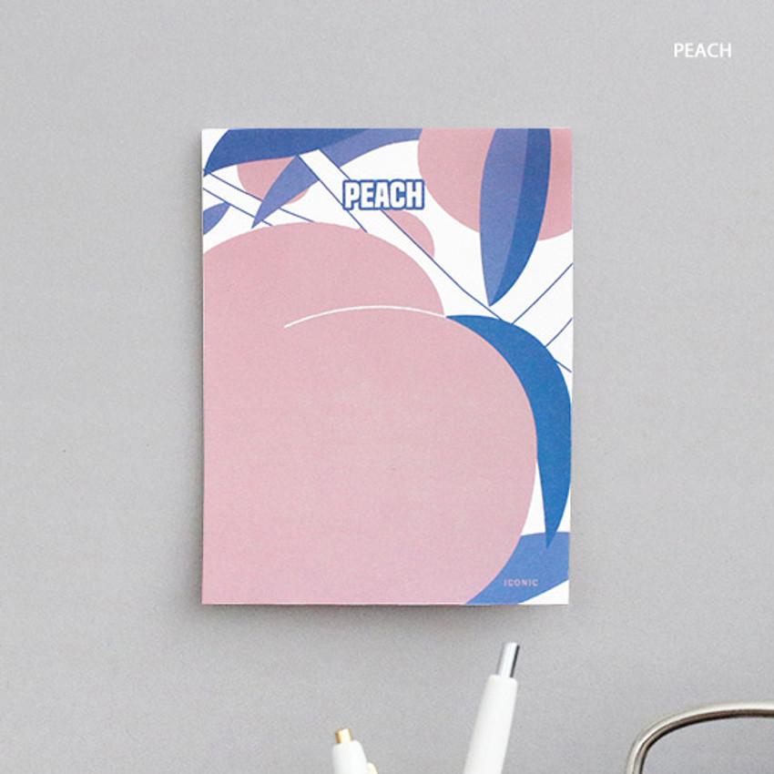 Peach - ICONIC Retro 80 sheets memo writing notepad