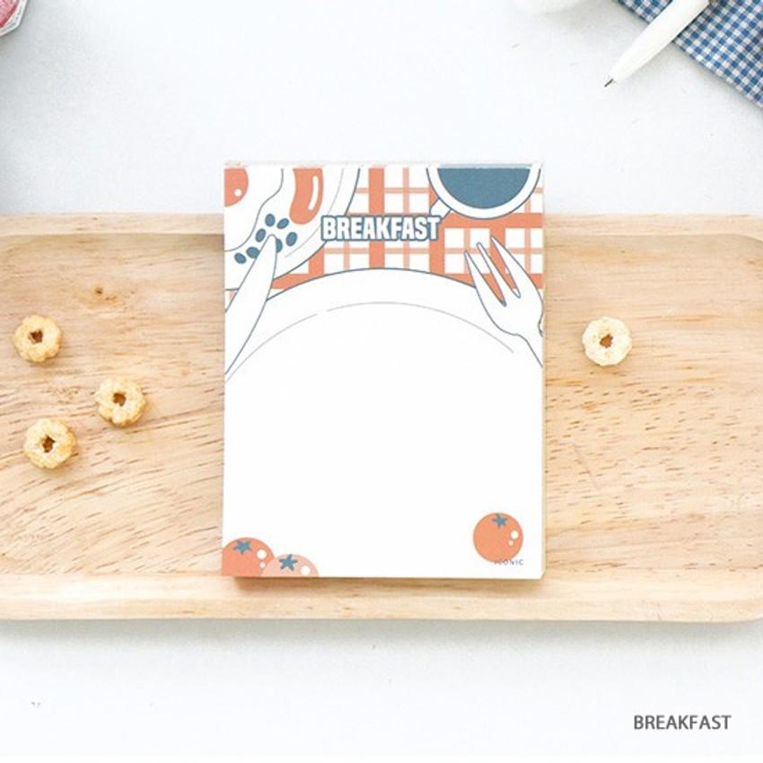 Breakfast - ICONIC Retro 80 sheets memo writing notepad