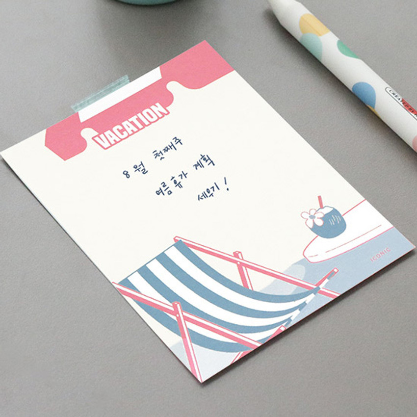 Example of use - ICONIC Retro 80 sheets memo writing notepad