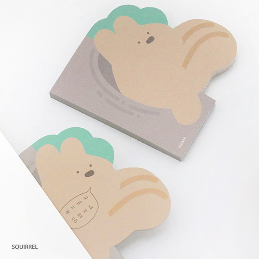 Squirrel - ICONIC Peekaboo 60 sheets memo writing notepad