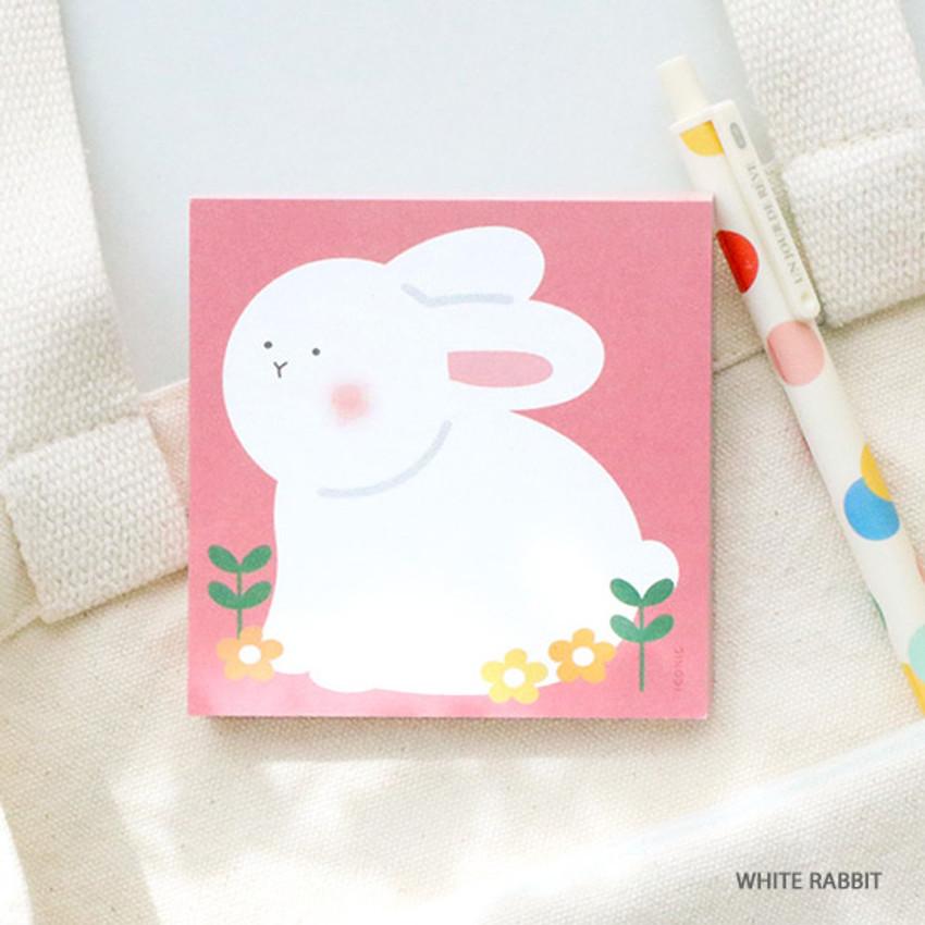 White rabbit - ICONIC Buddy 80 sheets memo writing notepad
