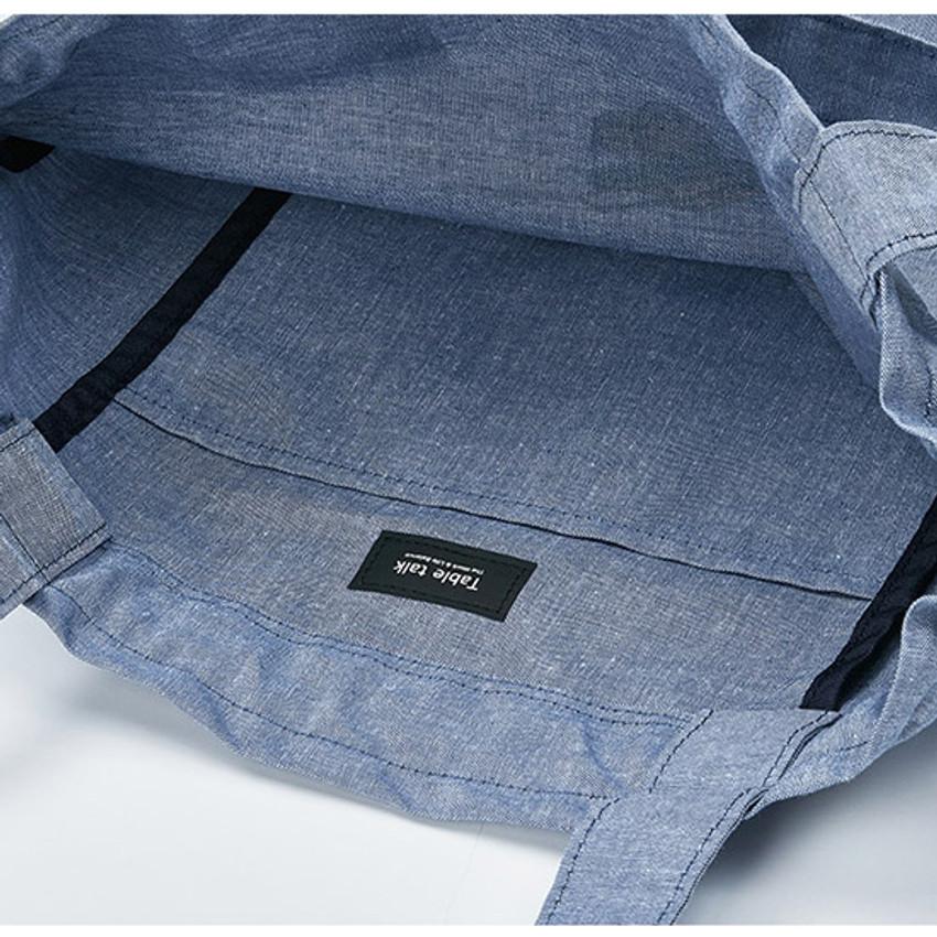 inner pocket - Antenna Shop Poodle cotton drawstring shoulder bag