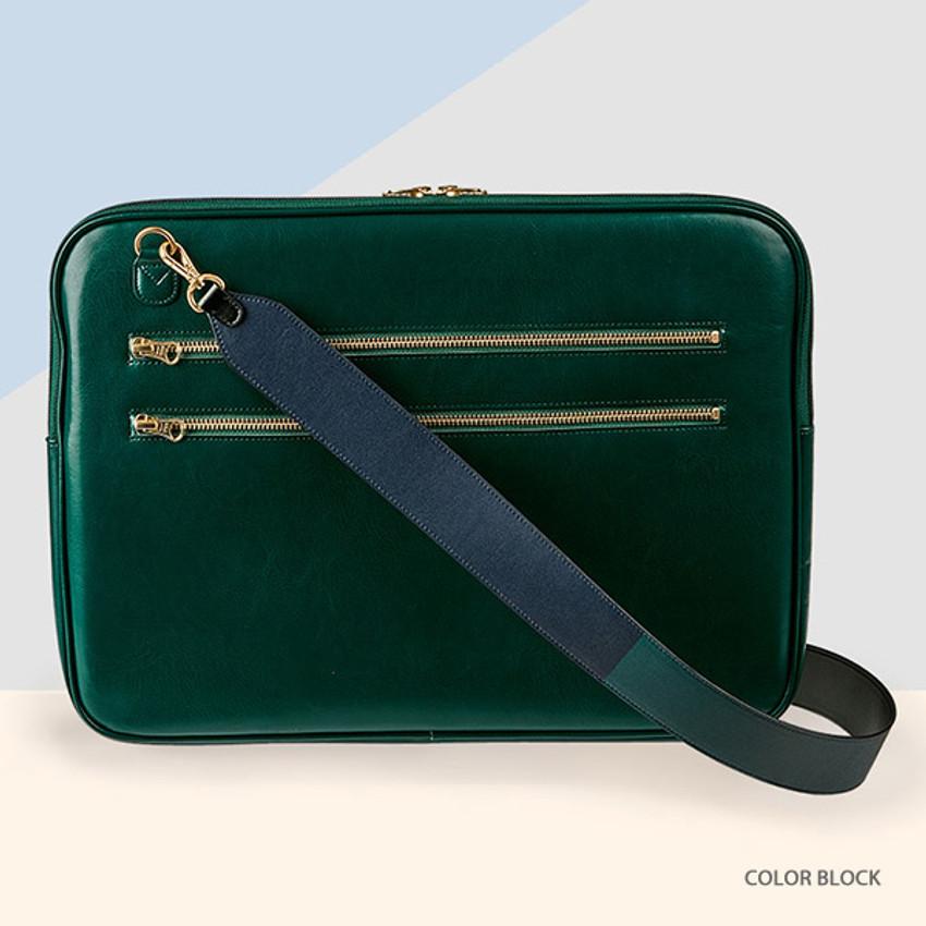 Color block - Antenna Shop Mood maker synthetic leather shoulder strap