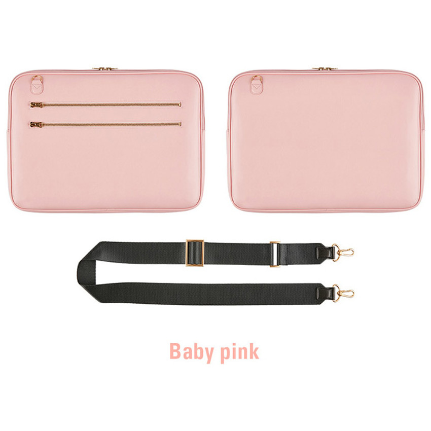 Baby pink - Antenna Shop Slim and wide SL 15 inches laptop PC bag