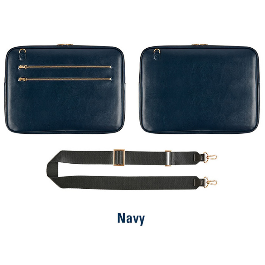Navy - Antenna Shop Slim and wide SL 15 inches laptop PC bag