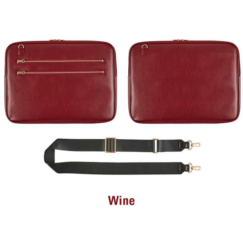 Wine - Antenna Shop Slim and wide SL 15 inches laptop PC bag