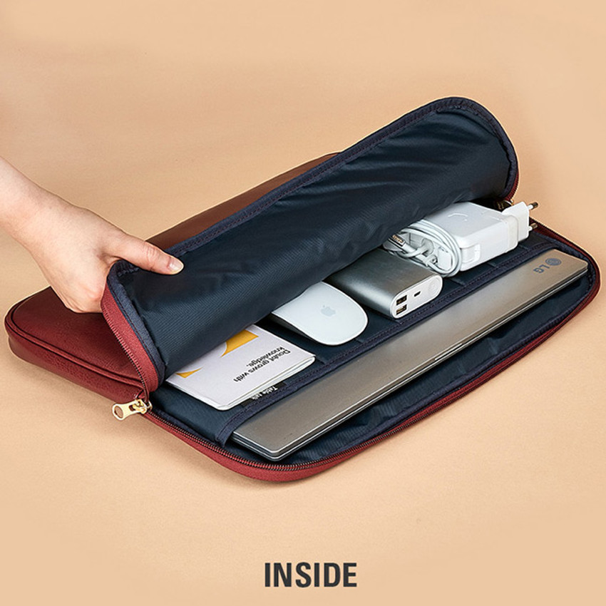 Inside - Antenna Shop Slim and wide SL 15 inches laptop PC bag
