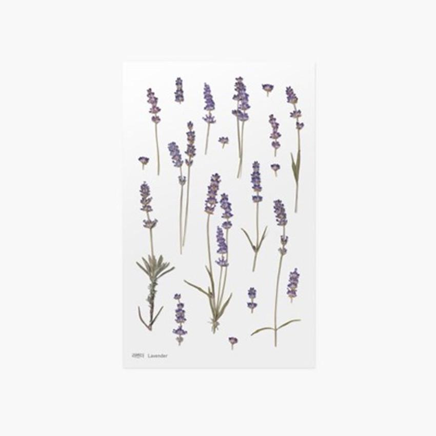 Appree Lavender Press Flower Deco Sticker Papercrafts