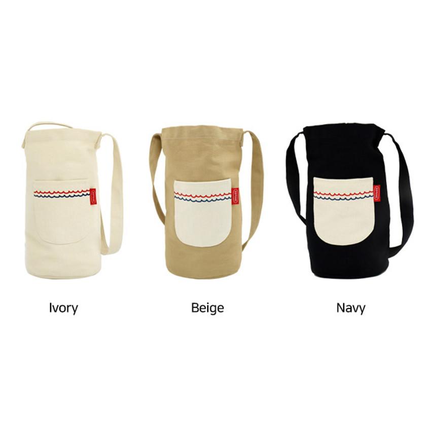 Color - ROMANE Baguette cotton shoulder bag
