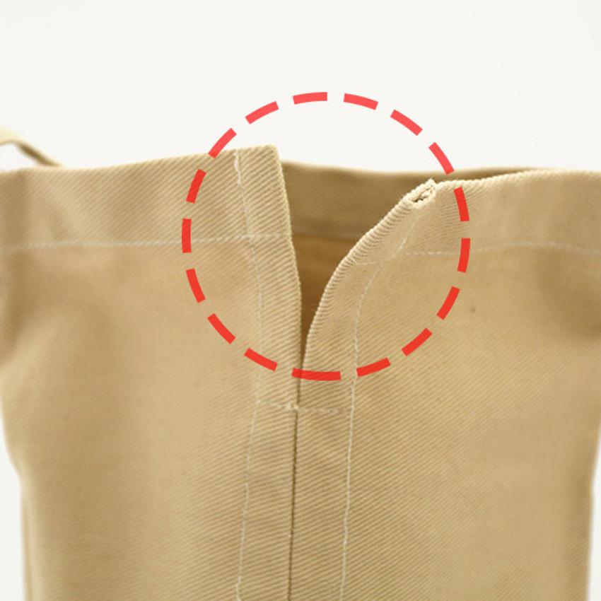 10cm back slit - ROMANE Baguette cotton shoulder bag