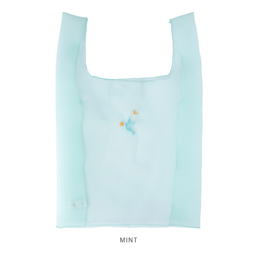Mint - Livework Nouveau stitch polyester daily tote bag