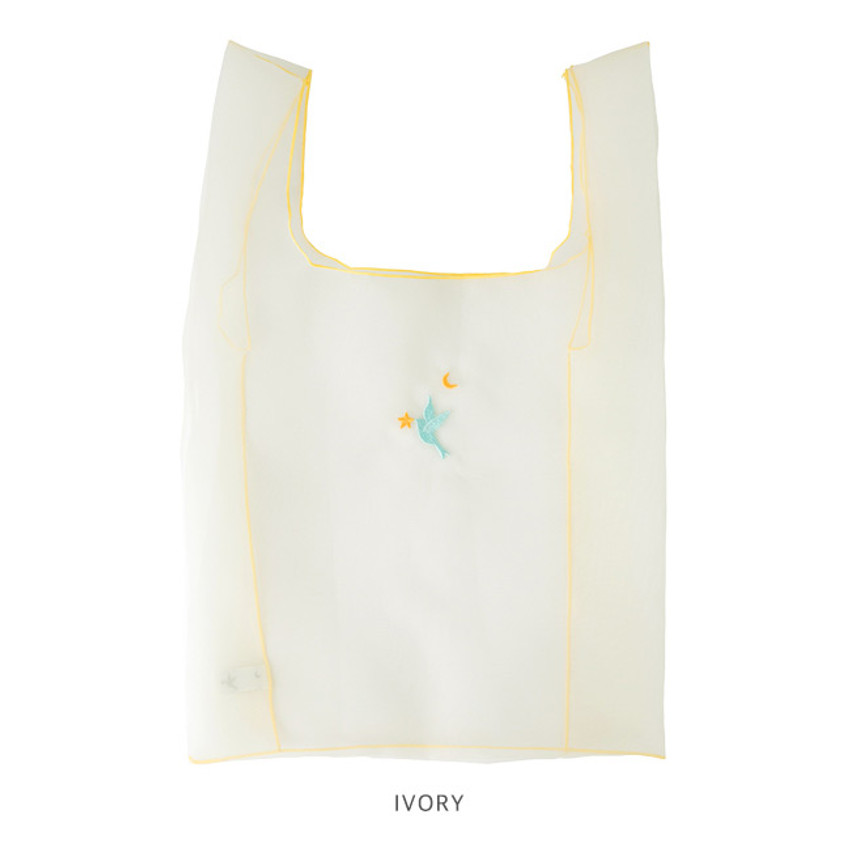 Ivory - Livework Nouveau stitch polyester daily tote bag