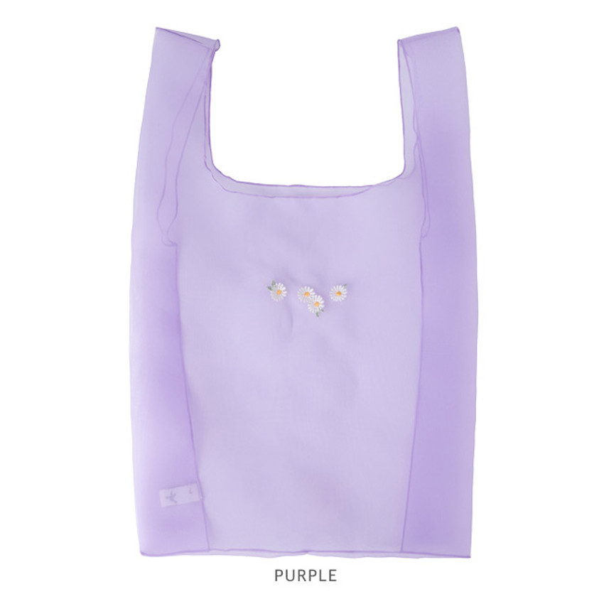 Purple - Livework Nouveau stitch polyester daily tote bag