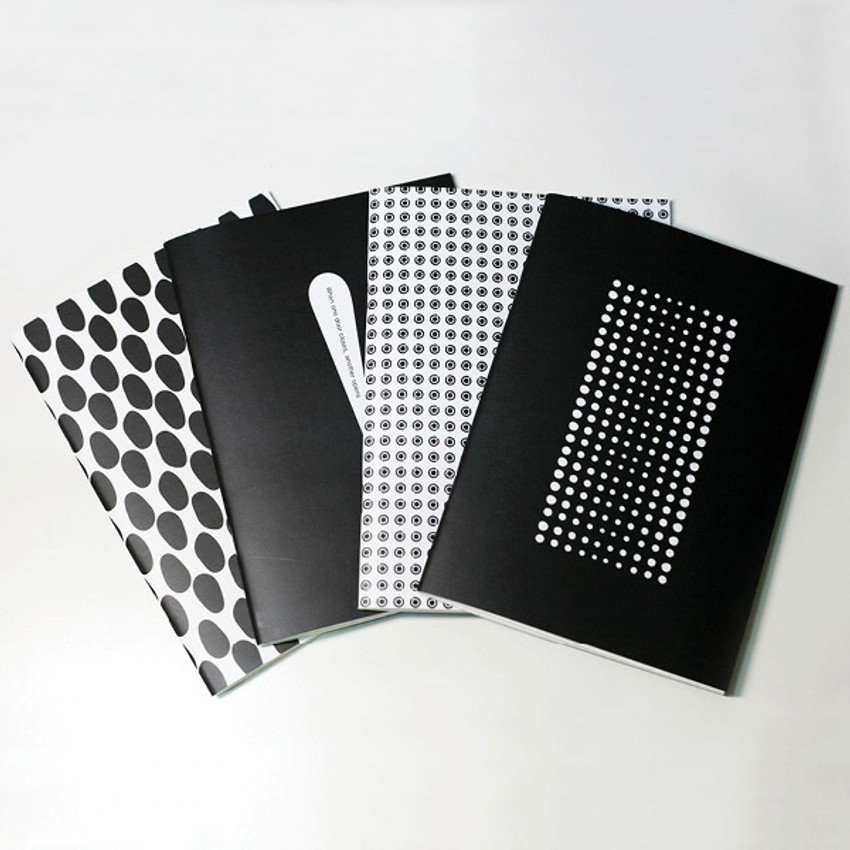 Inndesign Black and white pattern A5 grid blank notebook