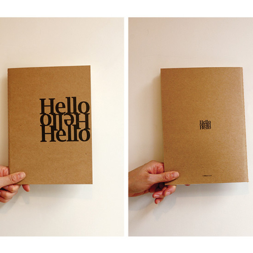 Front and Back - Inndesign Hello A5 blank notebook