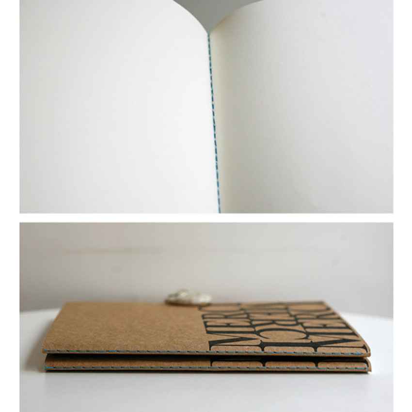 Detail of Inndesign Merci Kraft cover A5 blank notebook
