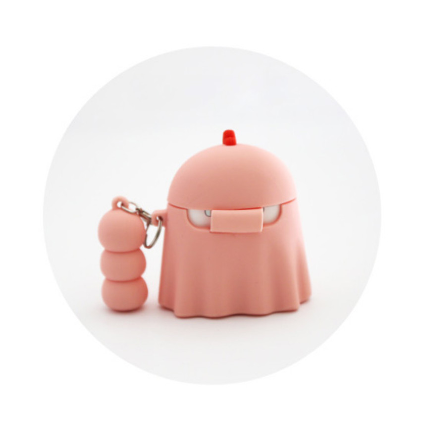 Back - ROMANE Peep Peep AirPods case silicon cover with keyring