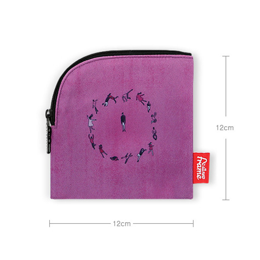 Size - All new frame D collection mini zipper pouch