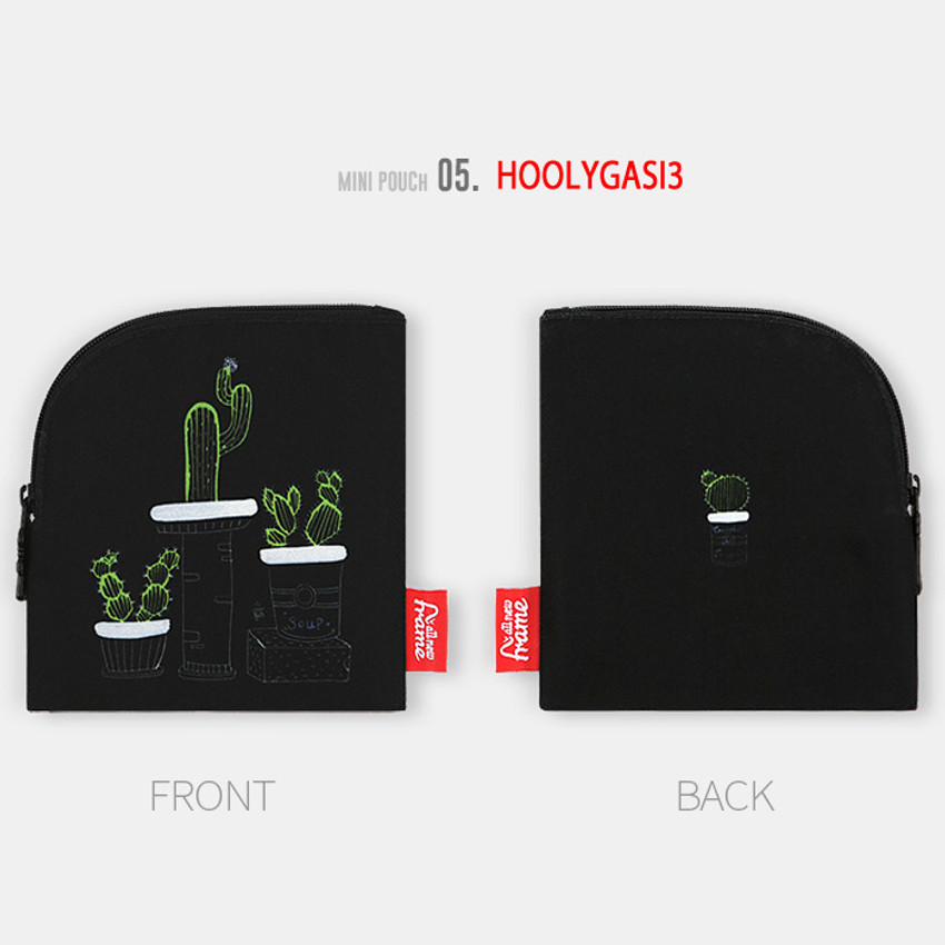 Hoolygasi3 - All new frame D collection mini zipper pouch