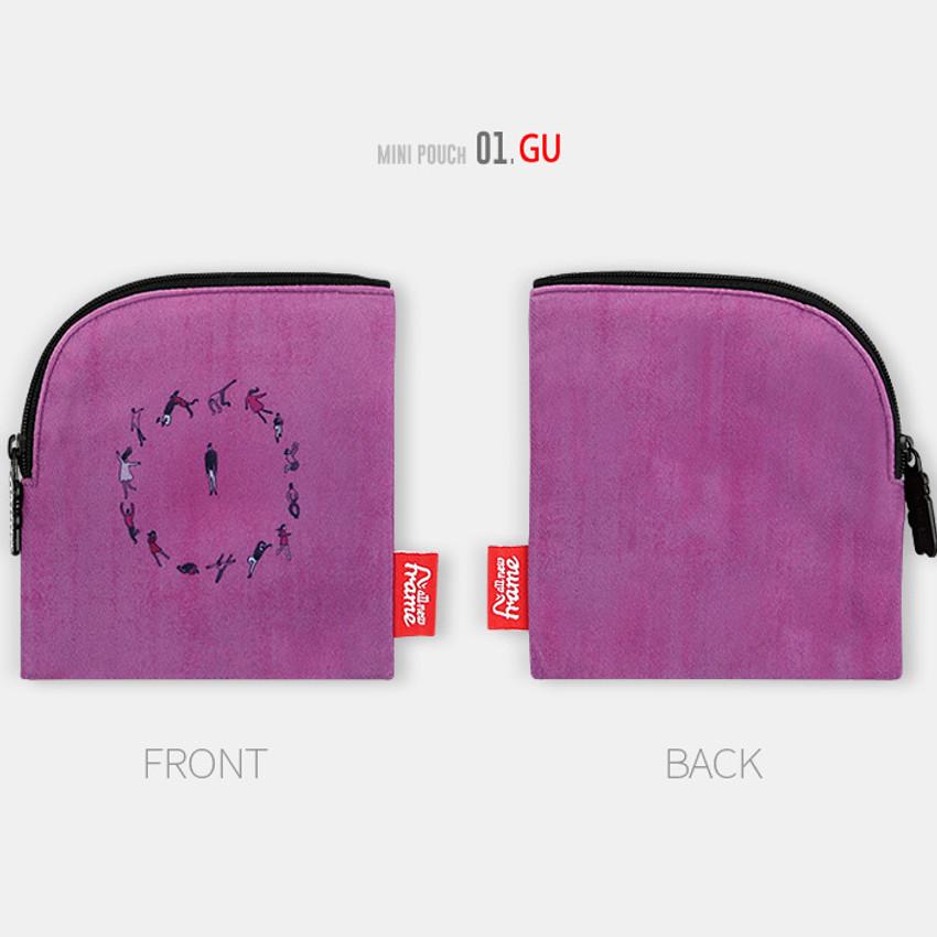 Reindeer - All new frame D collection mini zipper pouch
