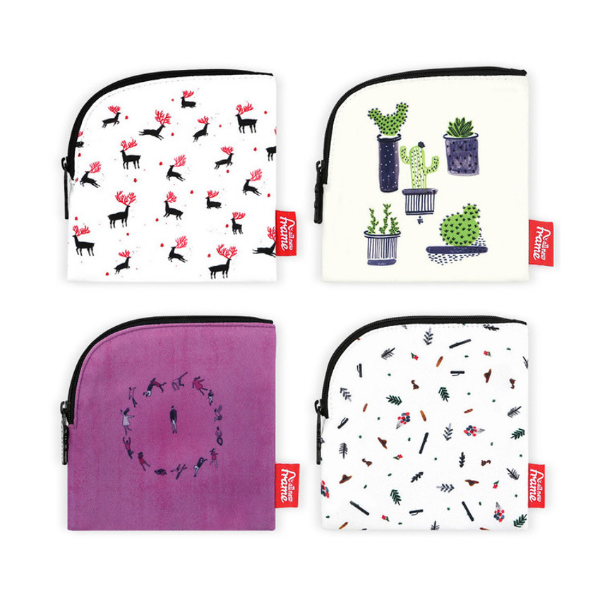 All new frame D collection mini zipper pouch