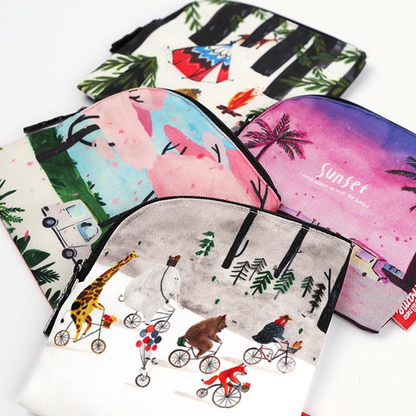 All new frame Myeongmi Choi E collection mini zipper pouch