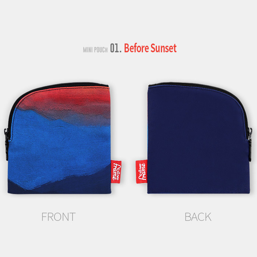 Before sunset - All new frame F collection mini zipper pouch