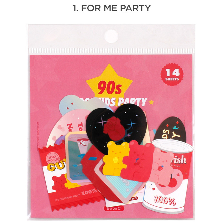 1. For me party - Be on D 90s coolkids party cute sticker pack