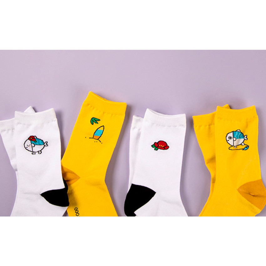 DESIGN IVY Ggo deung o embroidered socks