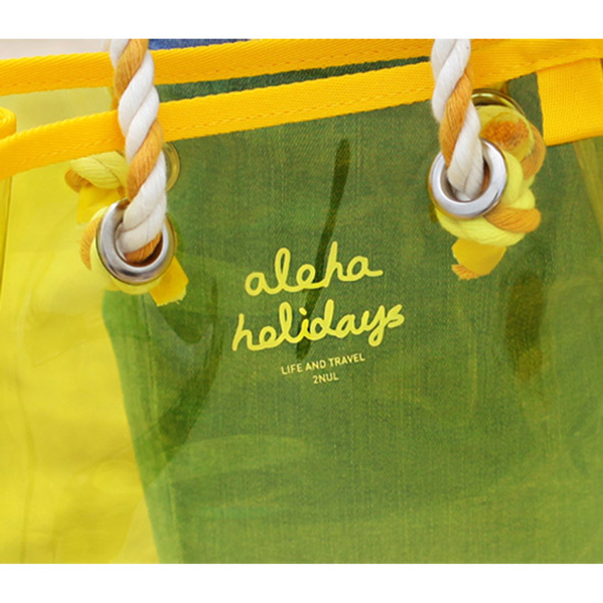 Logo - 2NUL Aloha holidays yellow small beach shoulder bag