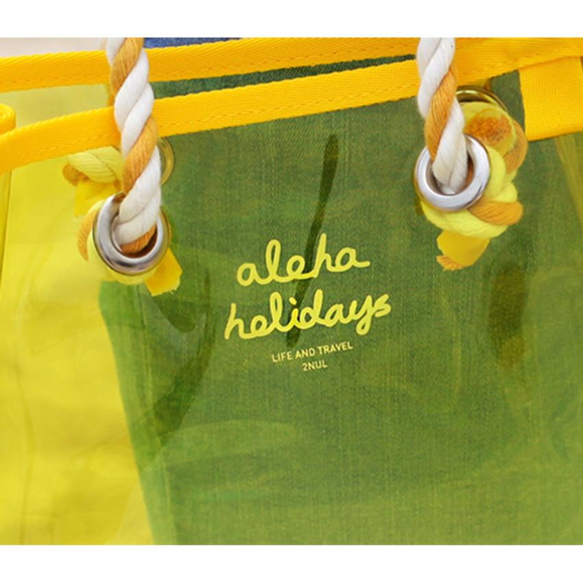 Logo - 2NUL Aloha holidays yellow small beach shoulder bag
