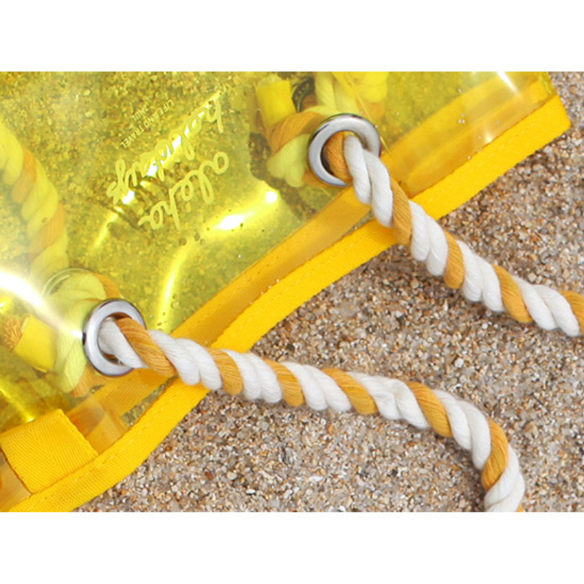 strap - 2NUL Aloha holidays yellow small beach shoulder bag