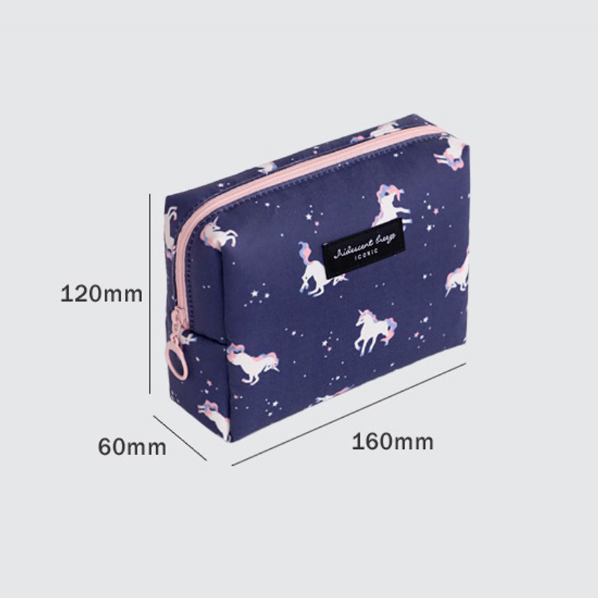 Size - ICONIC Comely pattern makeup cosmetic pouch bag