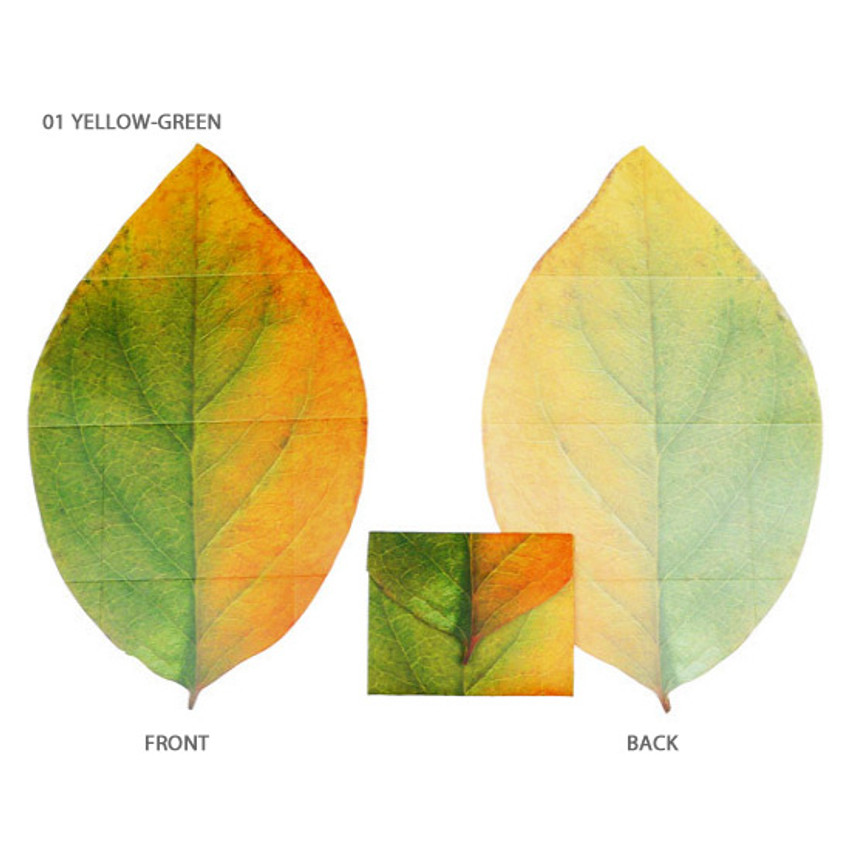 Yellow-green - ABJECTION Tree leaf 3 cards set