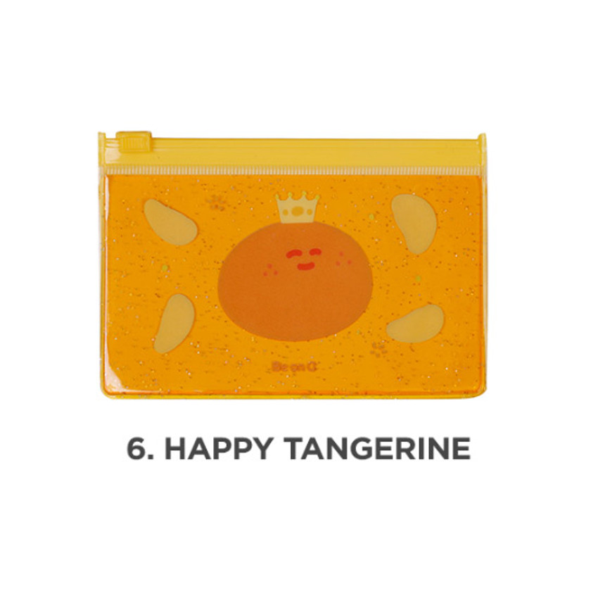Happy tangerine - Be on D 90s coolkids party small clear zip lock pouch