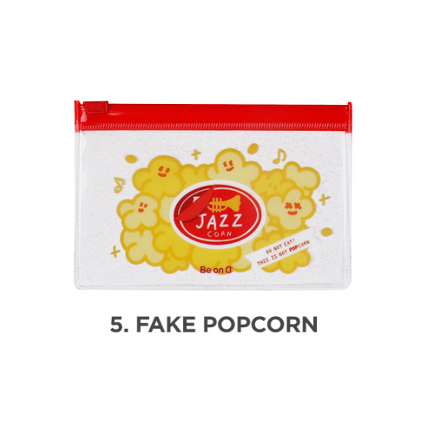 Fake popcorn - Be on D 90s coolkids party small clear zip lock pouch