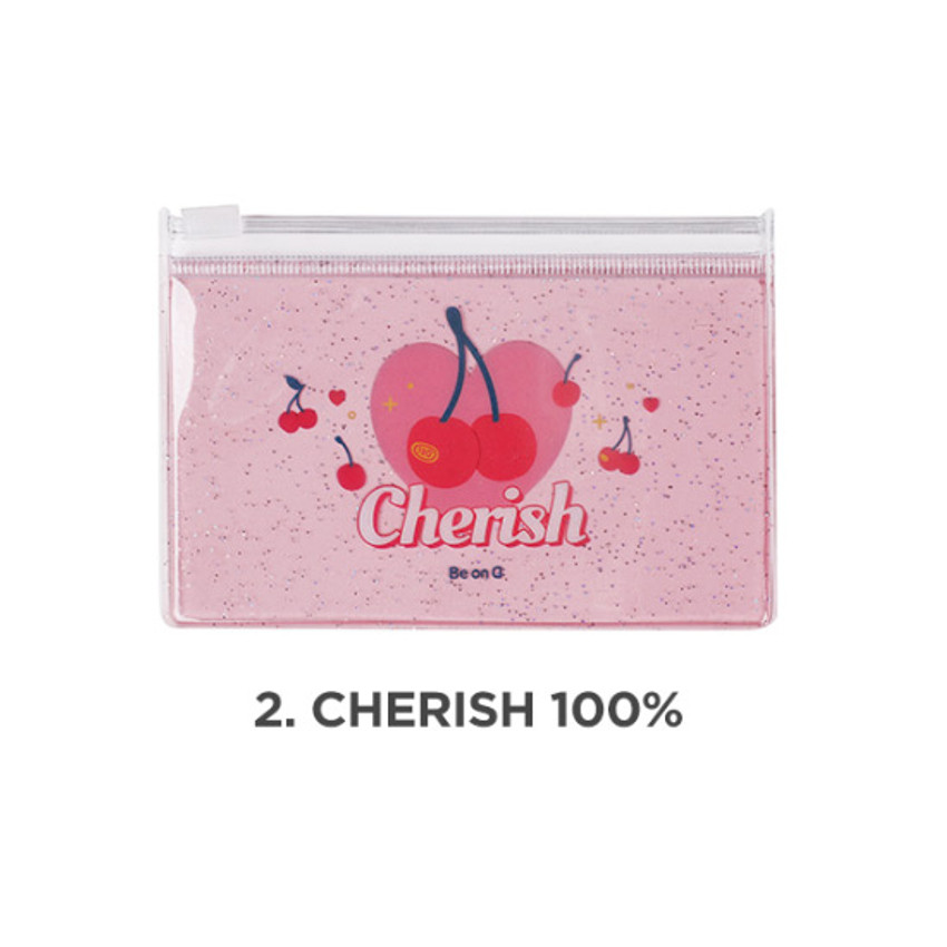 Cherish 100% - Be on D 90s coolkids party small clear zip lock pouch