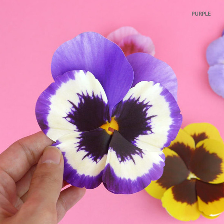 Purple - ABJECTION Pansy flower card and envelope set