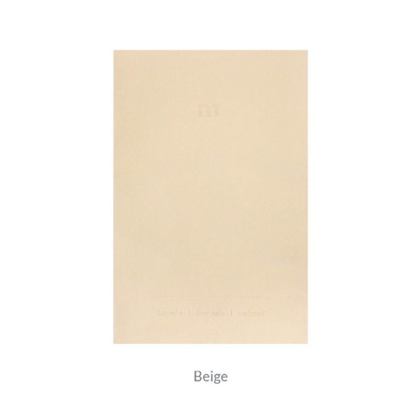 Beige - Indigo 6 Months dateless monthly diary planner
