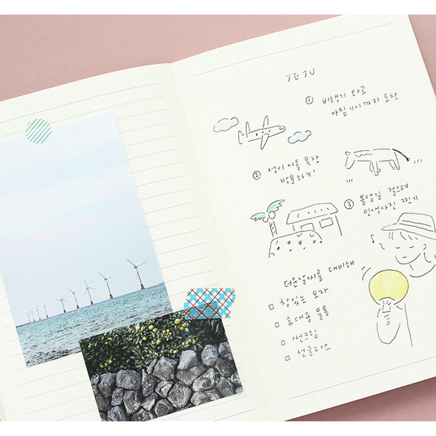 Example of use - Indigo 6 Months dateless monthly diary planner
