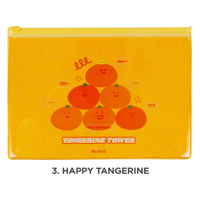 Happy tangerine - Be on D Fake food medium clear zip lock pouch