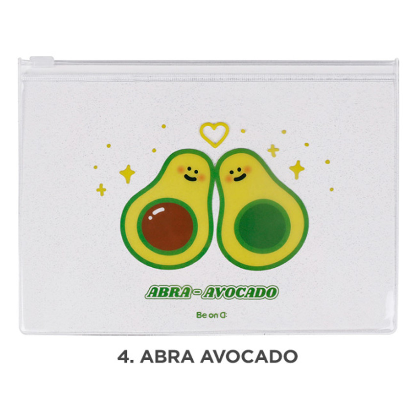 Abra avocado - Be on D Fake food medium clear zip lock pouch