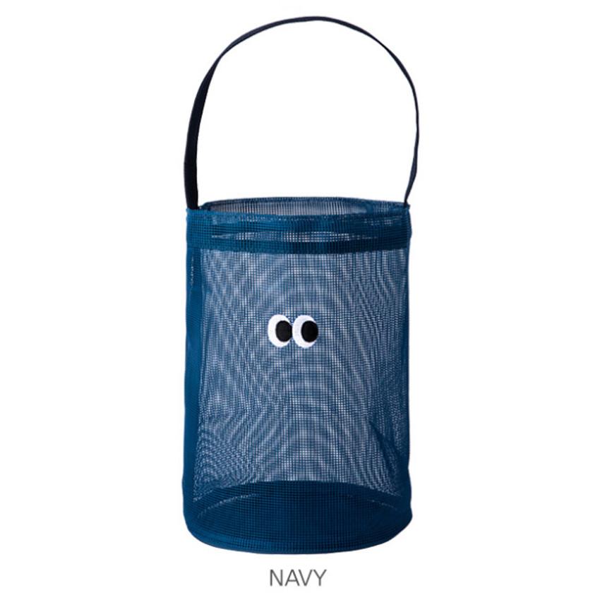 Navy - Livework Som Som stitch mesh tote bag ver2