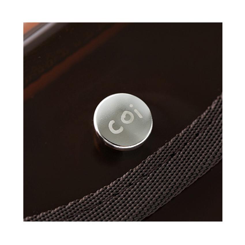 Snap button - Livework Coi clear PVC snap button card case wallet