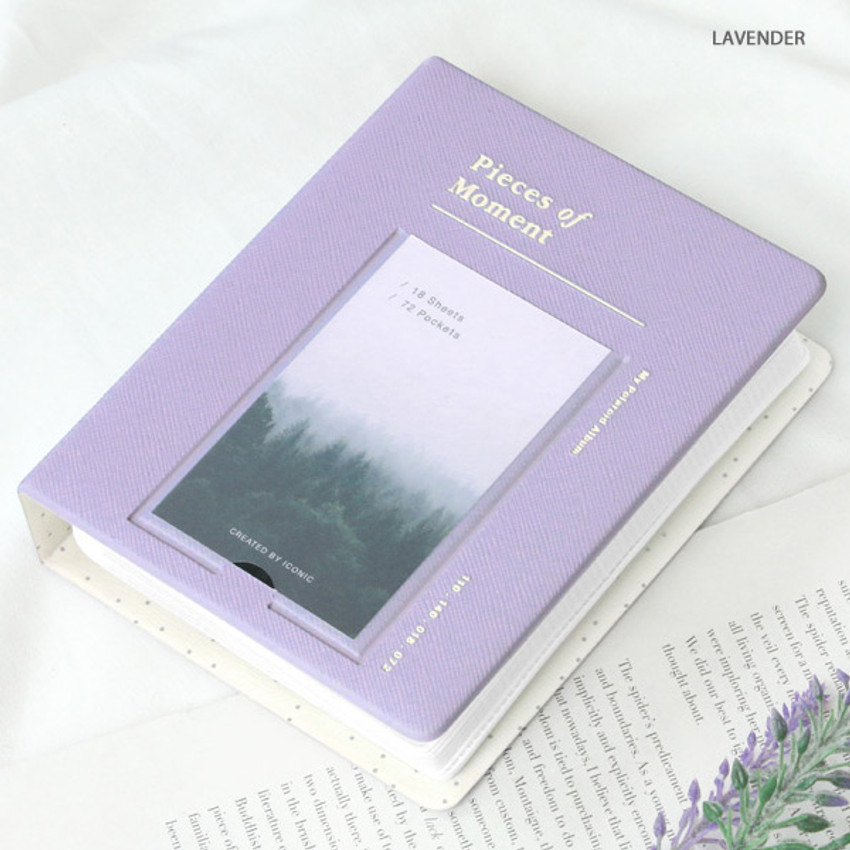 Lavender - ICONIC Instax mini polaroid slip in photo album ver4